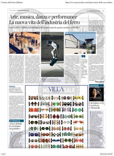Oto Lab Corriere della Sera article 12-20-2018
