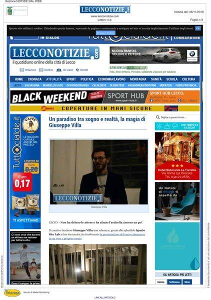 Oto Lab Lecconotizie article 11-26-2018