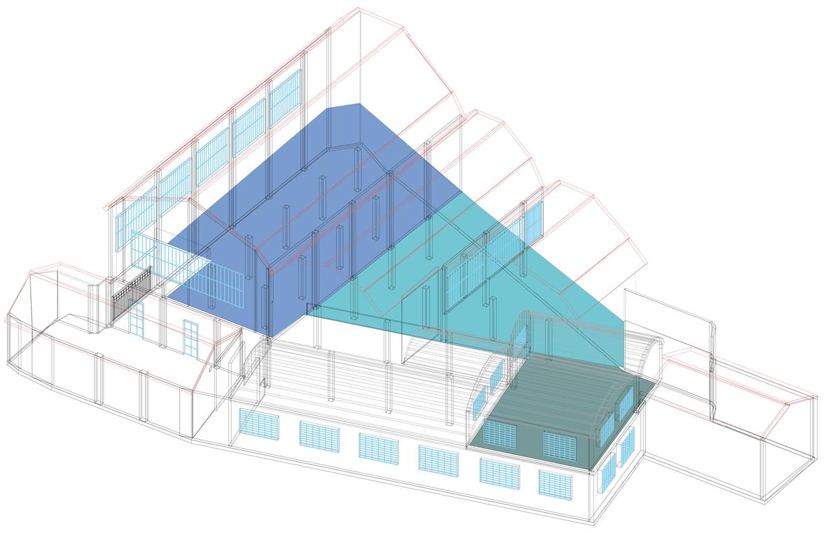 Oto Lab render spazio industriale eventi