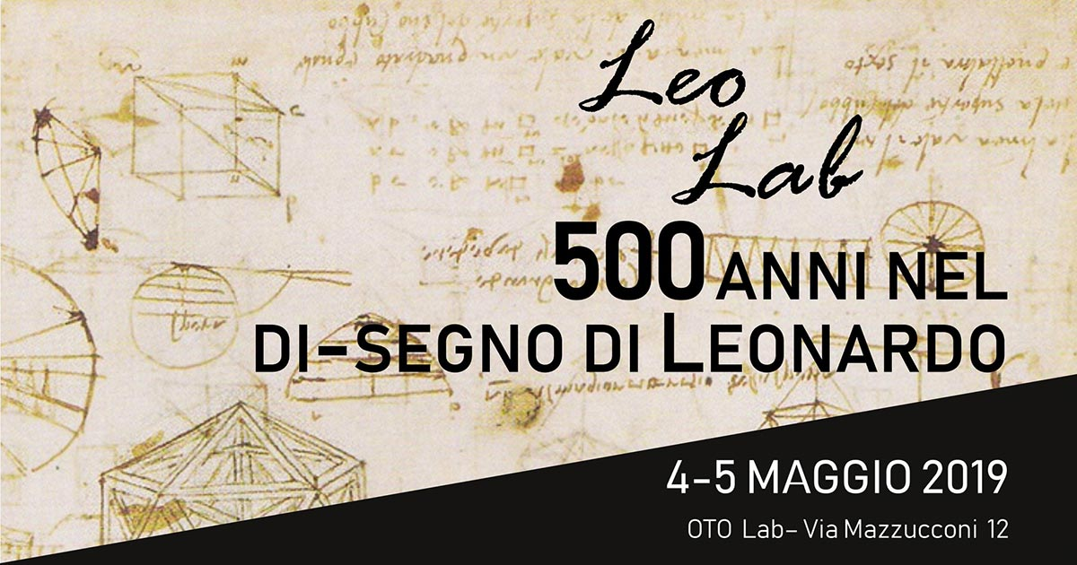 Leo Lab 500 anni nel di-segno di Leonardo