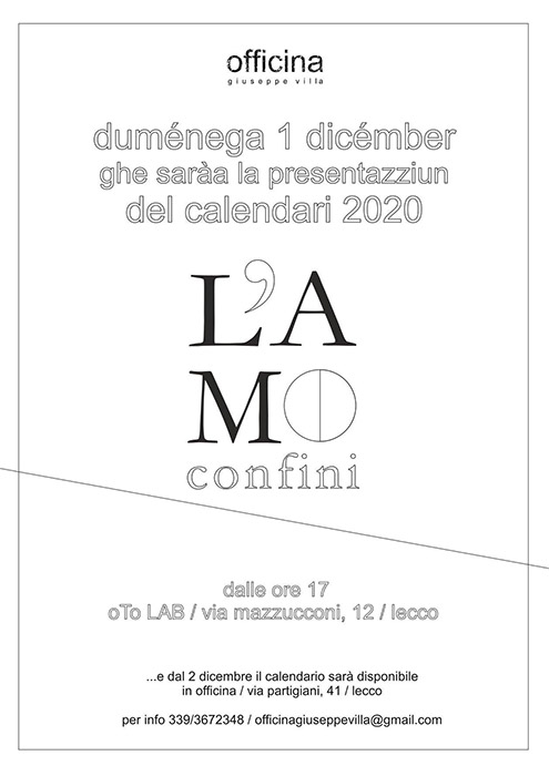 Oto Lab Lecco - Presentazione calendario L'Amo 2020 Officina Villa